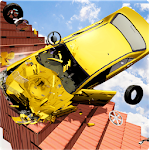 Beam Drive NG Death Stair Car Speed ​​Crash