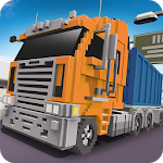 Blocky Truck Driver: Urban Transport