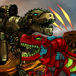 Dino Robot Battle Arena: Dinosaur game.