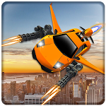 Flying Car Shooting Battle Adventure War Simulator